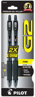 Pilot G2 Retractable Roller Gel Pen Fine 0.7mm Black 2Pack