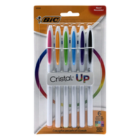 BIC Cristal UP Ballpoint Pen, Assorted Ink, 6 Pack