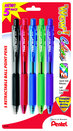 Zebra ZGrip Ballpoint Retractable Pen 1.0mm Assorted 5Pack