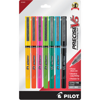 Pilot Precise V5 Stick Rolling Ball Pen Extra Fine 0.5mm 10Pack Assorted