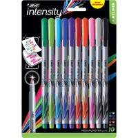BIC Intensity Fineliner Marker Pens Medium Point 1.0mm Assorted Colors 10Pack