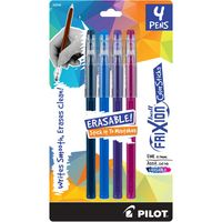 Pilot FriXion ColorSticks Erasable Pen 4Pack Assorted
