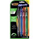 BIC Gelocity Quick Dry Retractable Gel Pen 0.7mm Assorted 4Pack