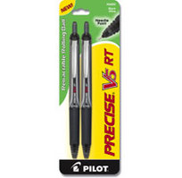 Pilot Precise V5 RT Rolling Ball Pens, Extra Fine Point (0.5mm), Assorted Colors, 3 Count