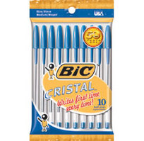 BICCristal Xtra Smooth Ball Pen, Medium Point 1.0mm, Blue Ink, 10 Count