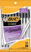 BICCristalXtra Smooth Ball Pen 10 Pack