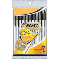 BIC Cristal Xtra Smooth Medium Point (1.0mm) Ball Pen Black, 10Pack