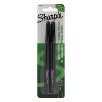 Sharpie 0.8 mm Fine Point Pens, Black, 2 Count