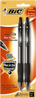 Velocity Ballpoint Pen 1.6Mm 2Pk Black
