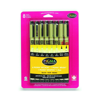 Pigma 8 Pen Assorted Set