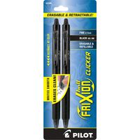Pilot Frixion Clicker Erasable Gel Pen Fine 0.7mm 2Pack Black