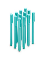Poppin Aqua Signature Ballpoint Pens w Blue Ink, Set of 12