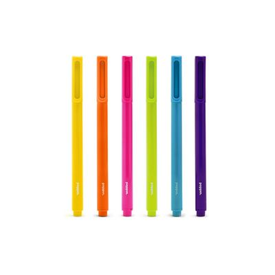 Poppin Classic Assorted Signature Ballpoint Pens, Set of 6