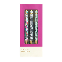 Multi Design Set of 3 Pens
