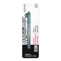 Zebra Zensations Fine Tip Brush Pen Black 1Pack