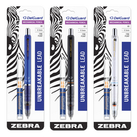 Zebra Delguard Mechanical Pencil 0.5mm with Bonus Lead Assorted Colors