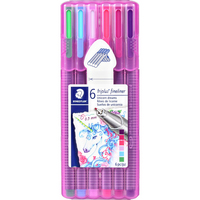 Staedtler Triplus Fineliner Super Fine Tip (0.3mm) Pens, Unicorn Dreams, 6 Count