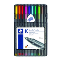 Staedtler Triplus Roller Rollerball Pens 0.4mm Assorted Colors 10 Count