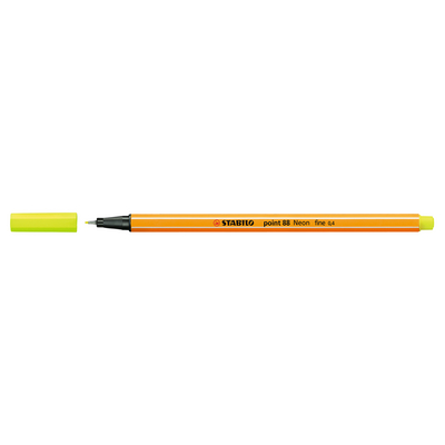 Stabilo Point 88 Pen, Neon Yellow