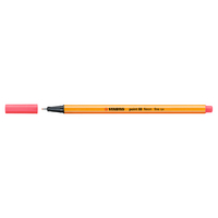 Stabilo Point 88 Pen, Neon Red