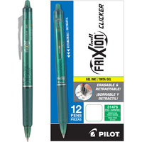 Pilot FriXion Clicker Erasable Gel Ink Pens, Fine Point (0.7mm), Green, 12 Count