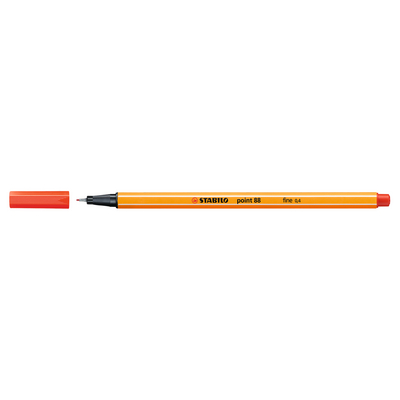 Stabilo Point 88 Pen, Light Red
