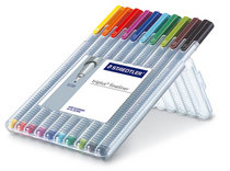 Triplus 10 Color Fineliner Set