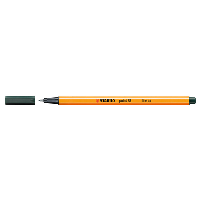 STABILO Point 88 Pen, Olive Green