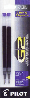 Pilot G2 Gel Refill 2 Pack Black