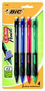 BIC Velocity #2 Side Clic Mechanical Pencil 0.7mm 4Pack