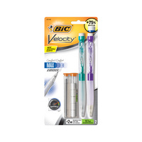 BIC Velocity Max Mechanical Pencil Medium Point (0.7 mm) #2  Black, 2Count