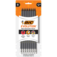 BIC Evolution Cased Pencil #2 Lead Gray 8Pack