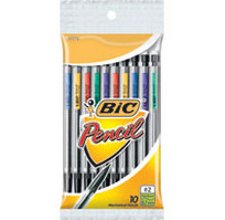 BICXtraLife Mechanical Pencil Assorted Colors 10 Pack