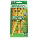 Dixon Ticonderoga #2 HB Soft Pencils 12Pack