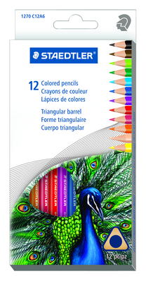 Staedtler Triangular Colored Pencil Set Assorted Colors 12Pack