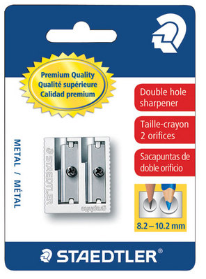 Staedtler Metal Sharpener, Double Hole for Pencils and Colored Pencils