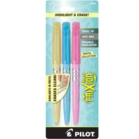 Pilot Frixion Light Pastel Highlighter Erasable 3Pack Assorted