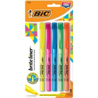 BIC Brite Liner Chisel Tip Highliter Assorted 5Pack