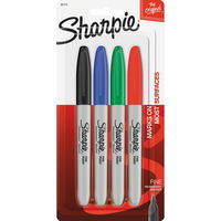 Sharpie Fine Point Permanent Marker, 4 Count