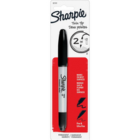 Sharpie TwinTip Permanent Marker Ultra Fine Point Black