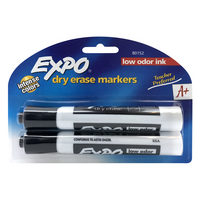 Expo 2 Low Odor Chisel Point Dry Erase Marker 2 Ct