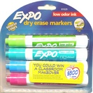 Expo 2 Low Odor Chisel Point Dry Erase Marker 4 Ct