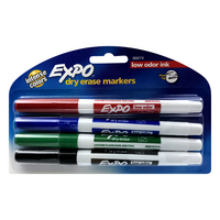 Expo Fine Tip Dry Erase Markers, 4Count