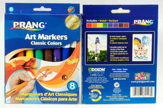 Prang Classic Art Markers, Bullet Tip, 8 Count, Assorted Colors