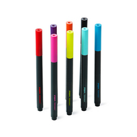 Poppin Assorted Slim Permanent Markers, Set of 8