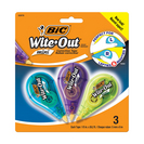BIC WhiteOut Brand Mini Correction Tape 3Pack