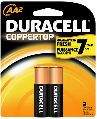 Duracell Aa 2 Pack Batteries Coppertop