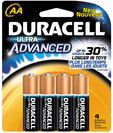 Duracell Ultra Aa 4 Pack Batteries