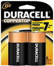Duracell D 2 Pack Batteries Coppertop