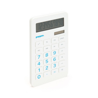 Poppin White EcoCalculator with Pool Blue Numbers